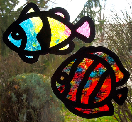 Crafts for Kids — Crayon Stained Glass
