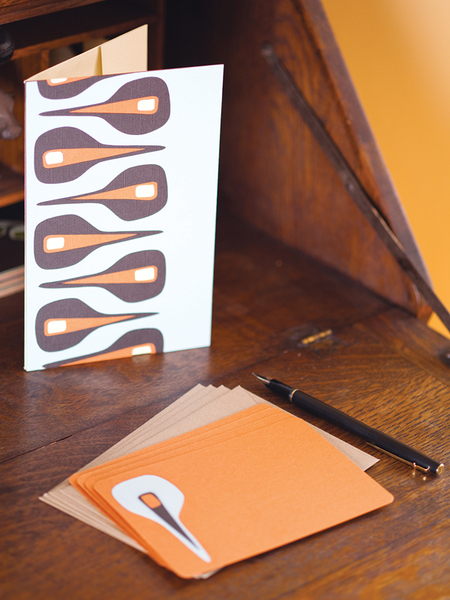 Notecards: Mid-Century Modern Stationery Set