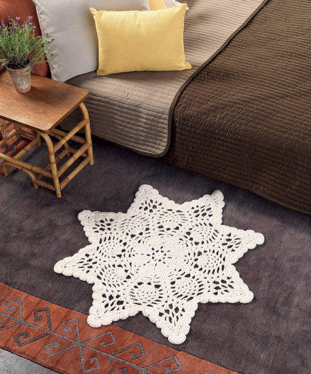 Free Crochet Patterns For Baby Rugs : Chunky Doily Rug - Free Crochet Pattern - Craftfoxes