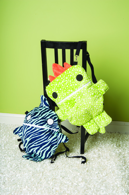 Reversible Creature Backpack Pattern
