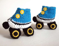 Roller Skate Booties - Free Knitting Pattern