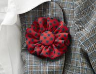 DIY Necktie Fabric Boutonniere