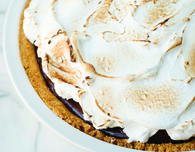 Dark Chocolate S'mores Pie