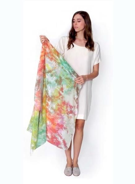 Tie-Dye Crystalline Scarf