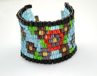 Beaded Cuff Bloom Bracelet