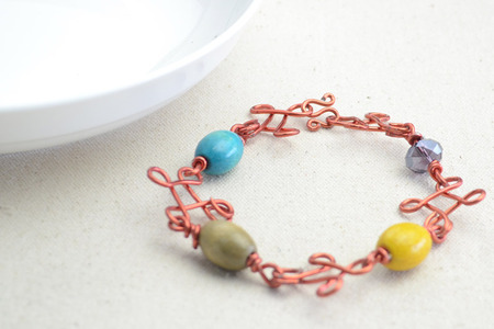 DIY Beaded Wire Bracelets