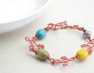 DIY Beaded Wire Bracelets