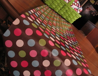 10-Minute Wrapping Paper Table Runner