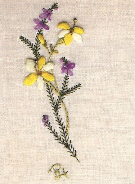 Winter Jasmine and Heather (Free Embroidery Pattern)