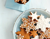 Spiced Sorghum Snowflake Cookies