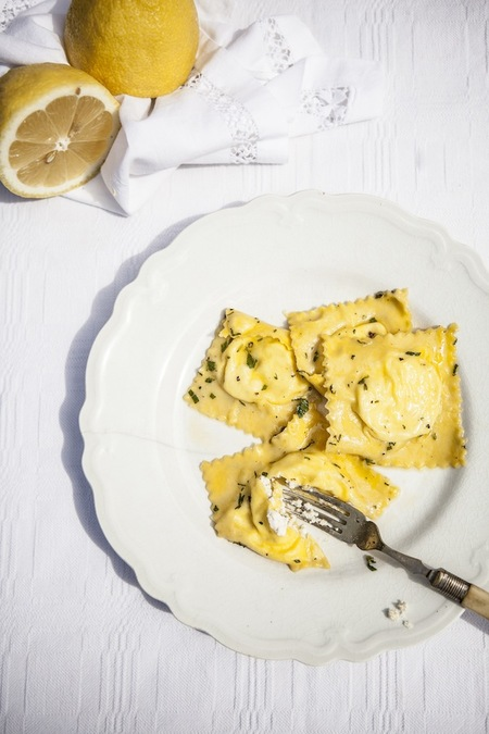 Lemon Ravioli in Butter and Mint Sauce
