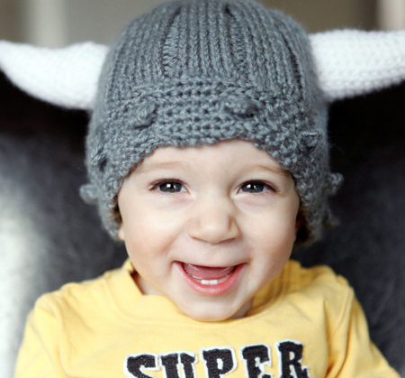 Child's Viking Hat (Free Knitting and Crochet Pattern)