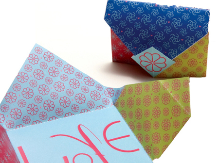 cute origami paper tutorial love notes craftfoxes