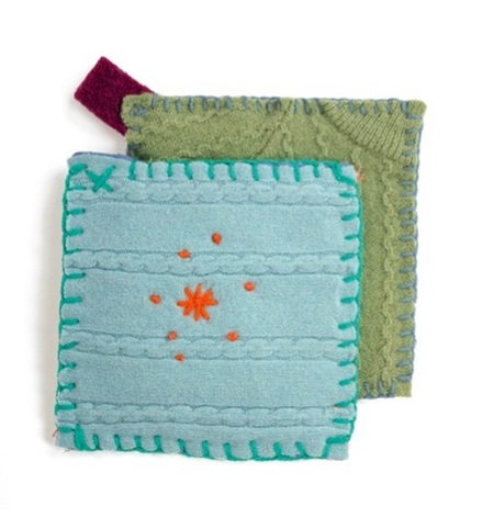 Upcycled Sweater Pot Holders