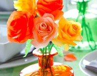 Crepe Paper Flowers Bouquet