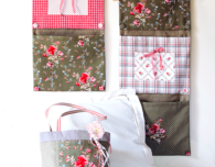 Patchwork Three-Pocket Wall Organizer Pattern