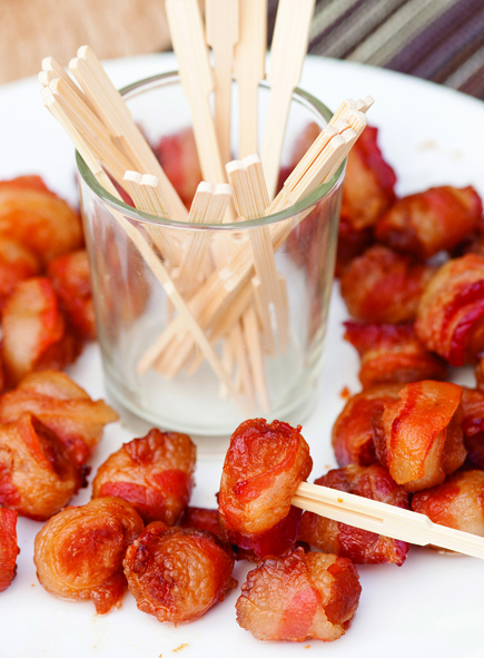 Paleo Bacon-Wrapped Water Chestnuts