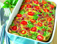 Tomato Basil Quiche With Bacon and Spinach