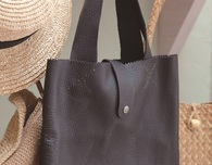 Handmade Casual Leather Tote  - Free Sewing Pattern