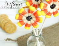 Sunflower Cookie Pops