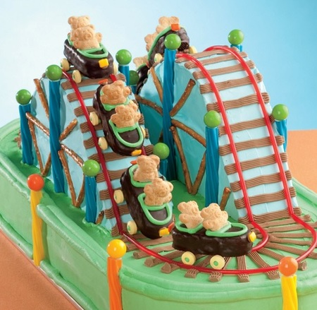 Cake Ideas: Roller Coaster Theme