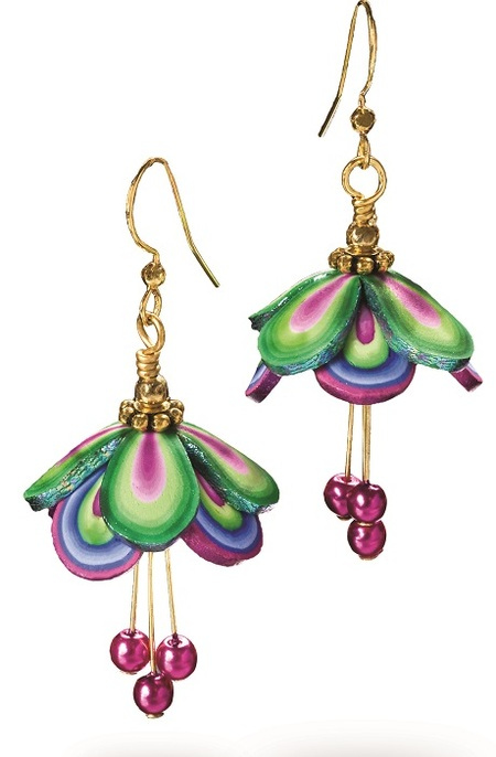 Polymer Clay Fairy Wings Earrings