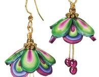 Polymer Clay Fairy Wings Earrings