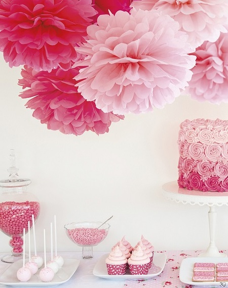 Decorate with Flair with Party Pom-Poms