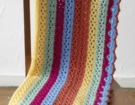 Bright Stripes Baby Afghan (Free Crochet Pattern)