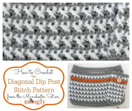Diagonal Dip Post Stitch Tutorial