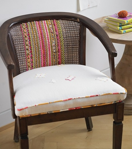 Upcycled Woven Chair Back