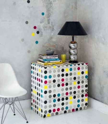 IKEA Hack: Dotted Chest of Drawers
