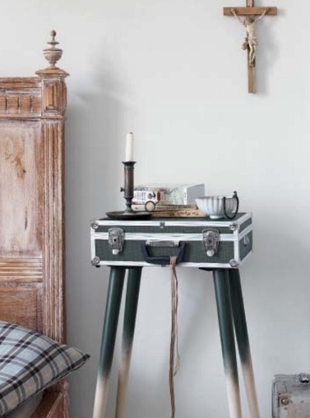 Upcycle an Old Suitcase into a Side Table