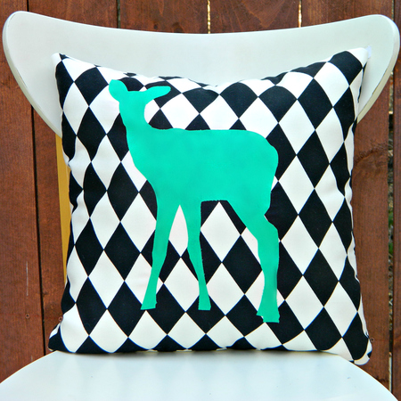 Graphic Animal Silhouette Pillows