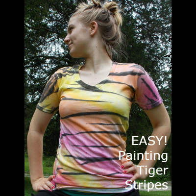 How to Paint a Tiger Striped T-Shirt