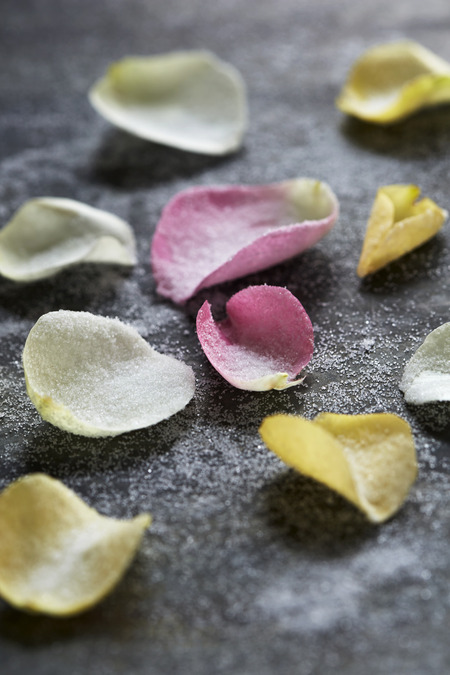 Edible Decorations: Crystallized Rose Petals