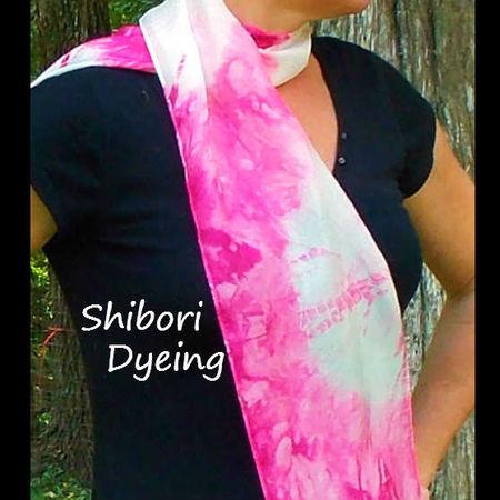 Exploring Shibori Dyeing - Kumo Dye a Silk Scarf!