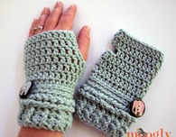 Ups and Downs Fingerless Mitts
