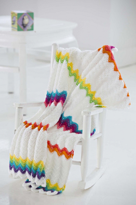 Modern Ripple Baby Blanket Free Crochet Pattern Craftfoxes