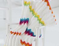 Modern Ripple Baby Blanket (Free Crochet Pattern)