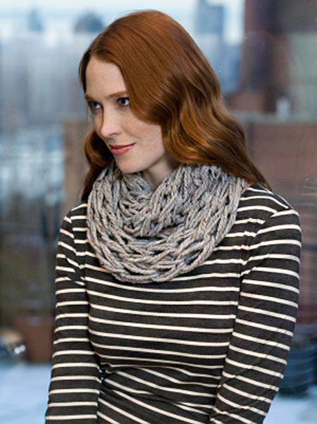 Quick Arm Knit Cowl Free Knitting Pattern Craftfoxes