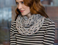Quick Arm Knit Cowl - Free Knitting Pattern