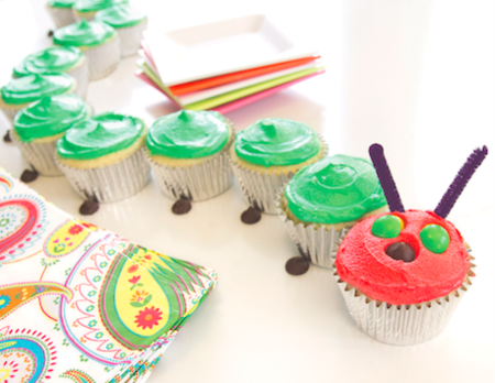 Very Hungry Caterpillar Cupcakes