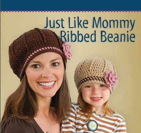 Mommy and Me Ribbed Beanie Hats (Free Pattern)