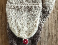 Gradient Flip-Top Mittens (Free Knitting Pattern)