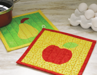 Raw-Edge Appliqué Hot Pad (Quilt Pattern for Beginners)