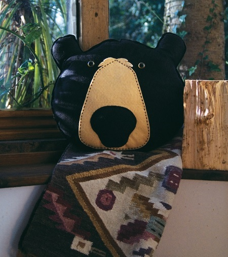 Black Bear Giant Pillow (Free Sewing Pattern)