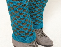 Honeycomb Leg Warmer Knitting Pattern