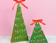 Recycled Cardboard Christmas Trees