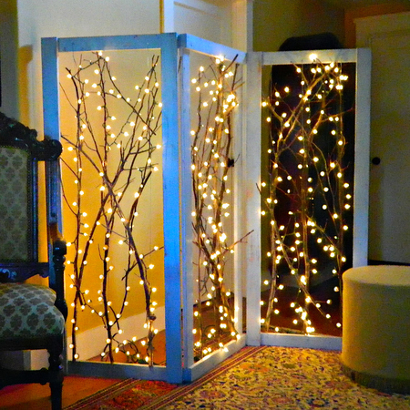 Twinkling Branches Room Divider